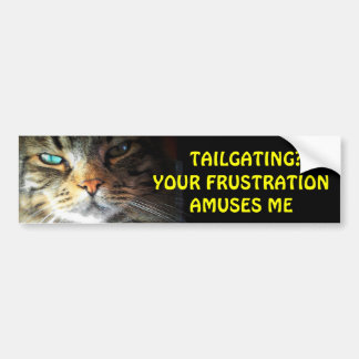 Tailgating? Your Frustration Amuses Me Bumper Cat Bumper Sticker