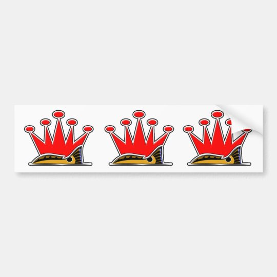 Tailing Crown Bumper Sticker