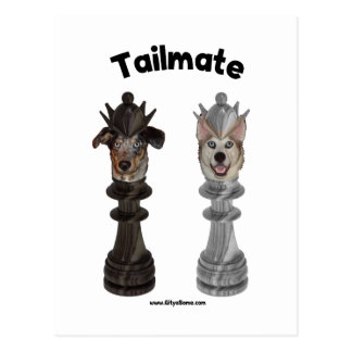 Tailmate Chess Queen Dogs Postcards