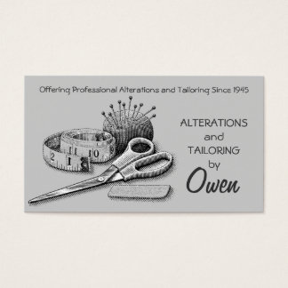 Tailor, Alterations, Tailoring, Seamstress, Tailor Business Card