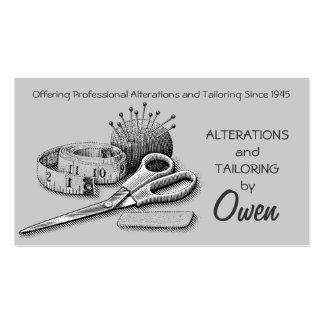 Tailor, Alterations, Tailoring, Seamstress, Tailor Pack Of Standard Business Cards
