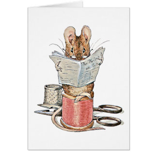 Tailor Mouse on Spool of Thread Card