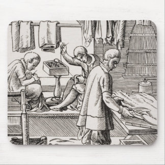 Tailor, reproduction of a woodcut mouse pad