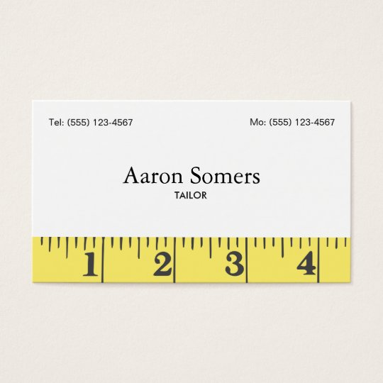 Tailors Measuring Tape Sewing Business Card