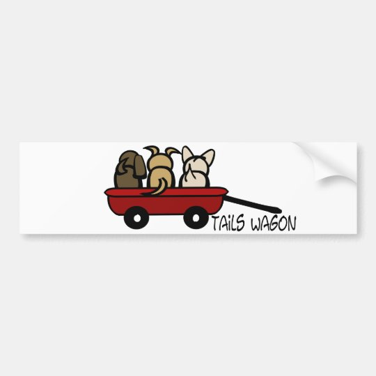 Tails Wagon Bumper Sticker
