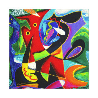 Taino Dance, Puerto Rico Art Stretched Canvas Prints