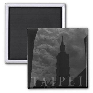 Taipei 101 Building, Taipei, Taiwan Square Magnet