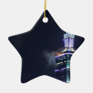 Taipei 101 Tower in Taiwan, Closeup Ceramic Star Decoration