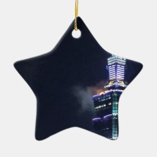Taipei 101 Tower in Taiwan, Closeup Christmas Ornament