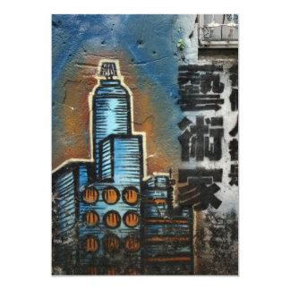 Taipei City graffiti, Taipei, Taiwan 13 Cm X 18 Cm Invitation Card
