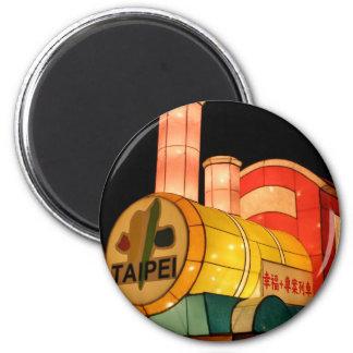 Taipei Lantern Festival 2009 Taipei City, Taiwan 6 Cm Round Magnet