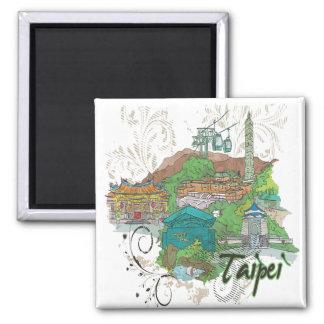 Taipei Square Magnet