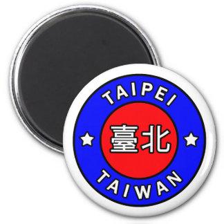 Taipei Taiwan 6 Cm Round Magnet