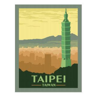 Taipei Taiwan - Vintage Travel Postcard