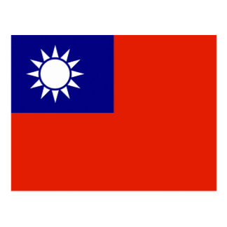 taiwan country flag china province symbol postcard