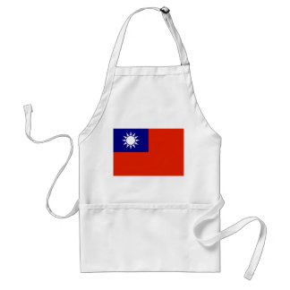 taiwan country flag china province symbol standard apron
