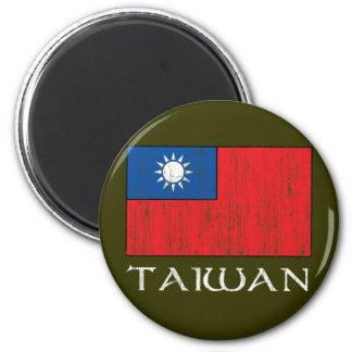 Taiwan Flag 6 Cm Round Magnet