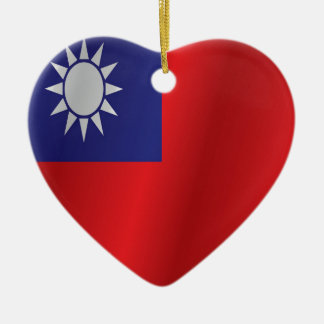 Taiwan flag ceramic heart decoration