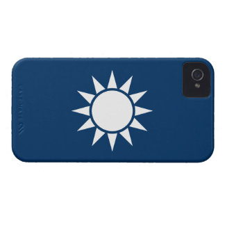 "Taiwan Flag ""Classic"" iPhone 4 Case-Mate Cases"
