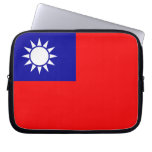 Taiwan Flag Laptop Computer Sleeve