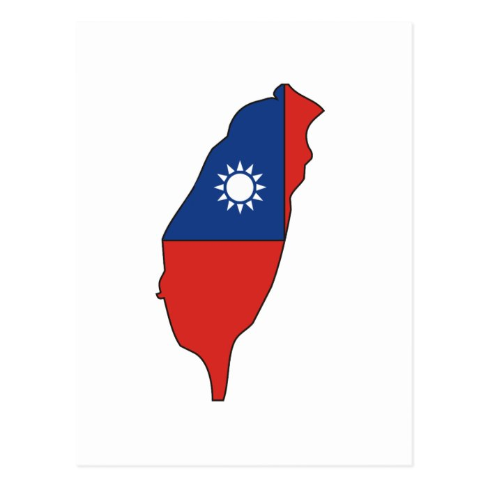 Taiwan flag map postcard