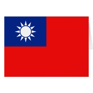 Taiwan Flag Notecard