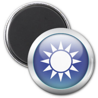 "Taiwan Flag ""Orb"" 6 Cm Round Magnet"