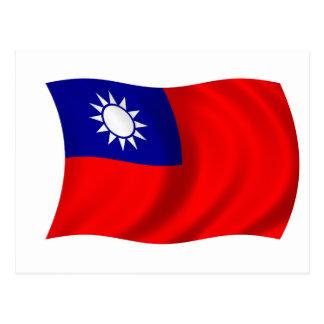 Taiwan flag postcard