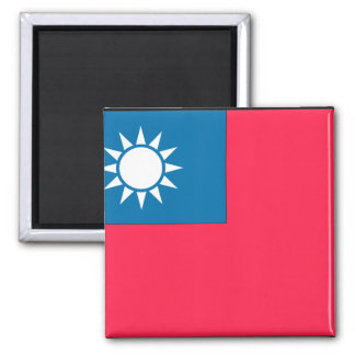 Taiwan Flag Square Magnet