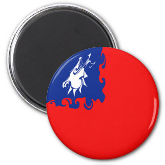 Taiwan Gnarly Flag 6 Cm Round Magnet