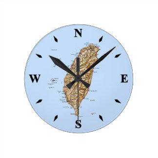 Taiwan Map Clock