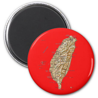 Taiwan Map Magnet