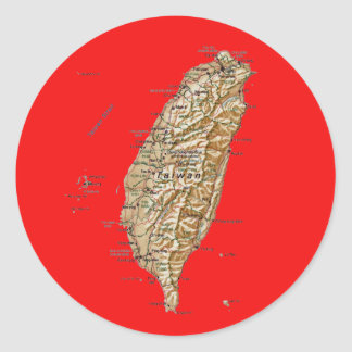 Taiwan Map Sticker