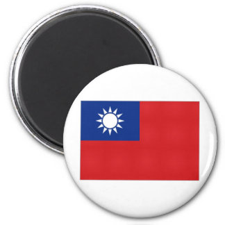 Taiwan National Flag 6 Cm Round Magnet