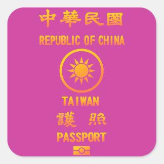 Taiwan Passport Square Sticker