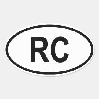 "Taiwan ""RC"" Oval Sticker"