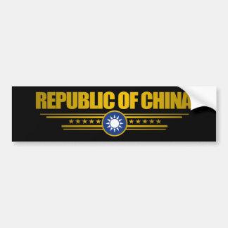 Taiwan (Republic of China) Flag Bumper Sticker