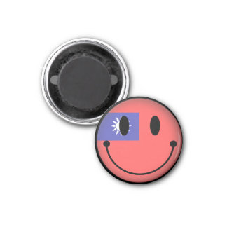 Taiwan Smiley 3 Cm Round Magnet