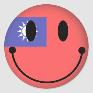 Taiwan Smiley Classic Round Sticker