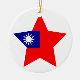 Taiwan Star Round Ceramic Decoration