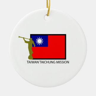 TAIWAN TAICHUNG MISSION LDS CTR ROUND CERAMIC DECORATION