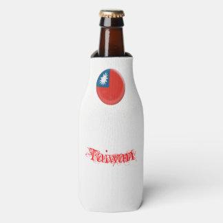 Taiwan Taiwanese Flag Bottle Cooler