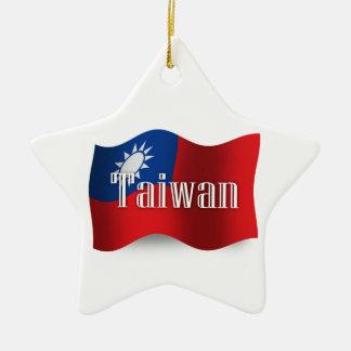 Taiwan Waving Flag Ceramic Star Decoration