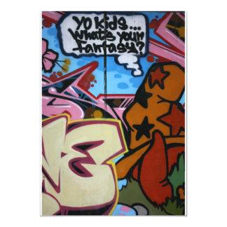 Taiwanese graffiti, Taipei, Taiwan 13 Cm X 18 Cm Invitation Card