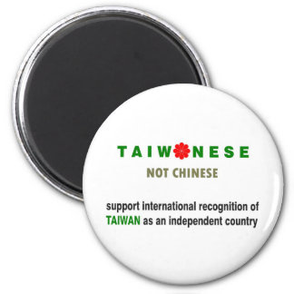 Taiwanese Not Chinese 6 Cm Round Magnet