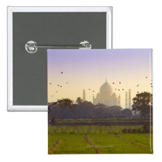Taj Mahal 15 Cm Square Badge