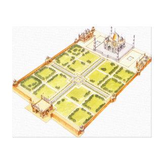 Taj Mahal. Adra India. Tomb and gardens Canvas Print