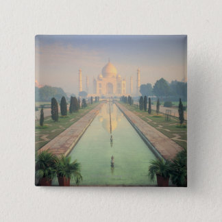 Taj Mahal, Agra, India 2 15 Cm Square Badge