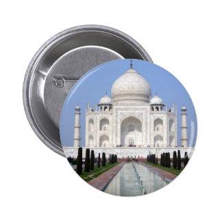 Taj Mahal, Agra, India 6 Cm Round Badge