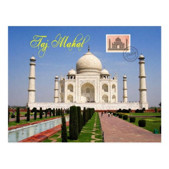 Taj Mahal, Agra, India Postcard